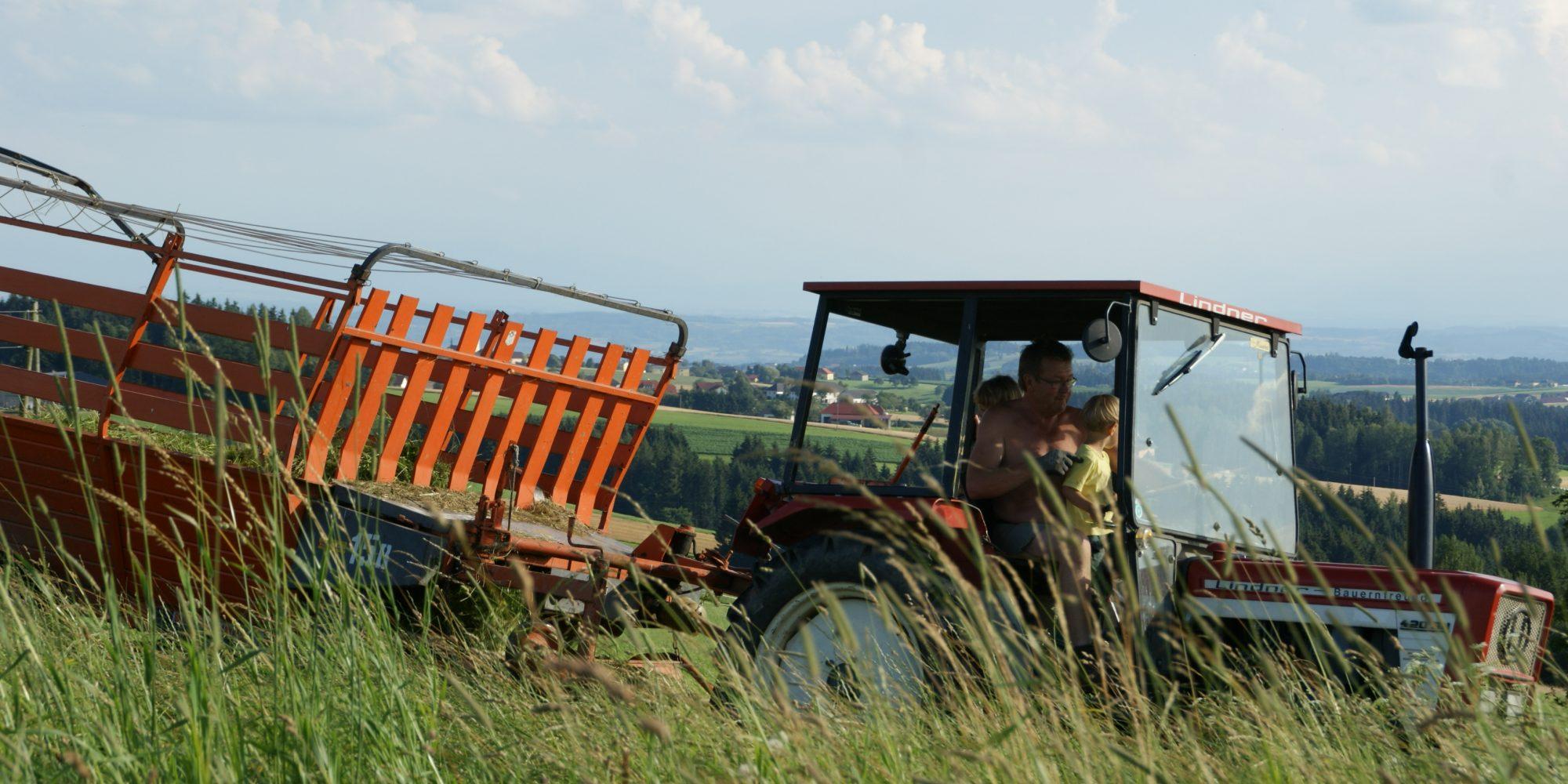 Traktorfahren am Neundlingerhof